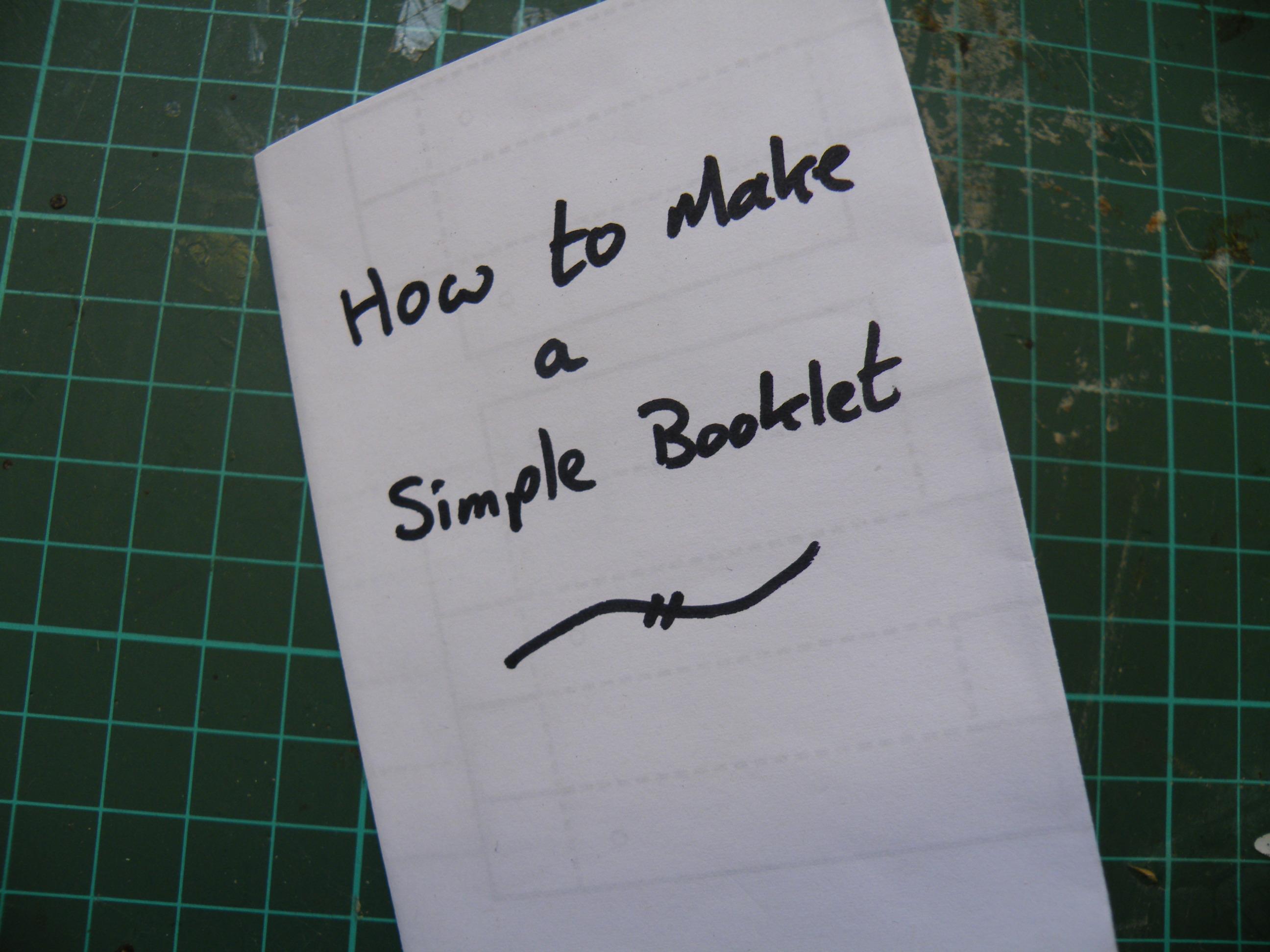 Make a pocket-sized booklet.