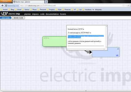 Configure Electric Imp Toggle