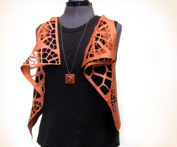 No-Laser Leather Vest