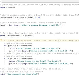 Simple Python Number Guessing Game
