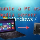 Enable a PC as a media server