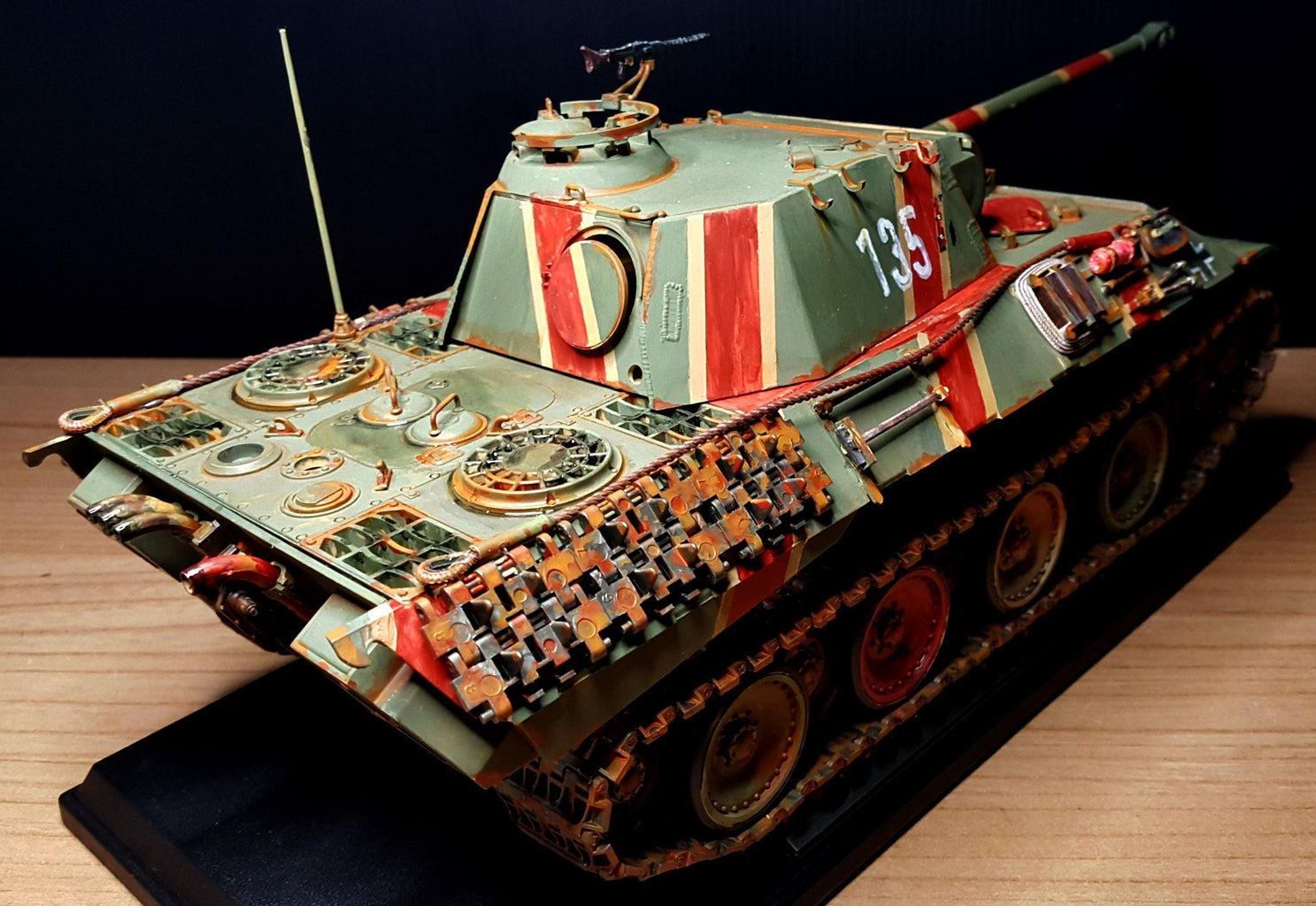 Weathering Panther a Tank.