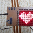 Valentine Gift using Scrolling LED display