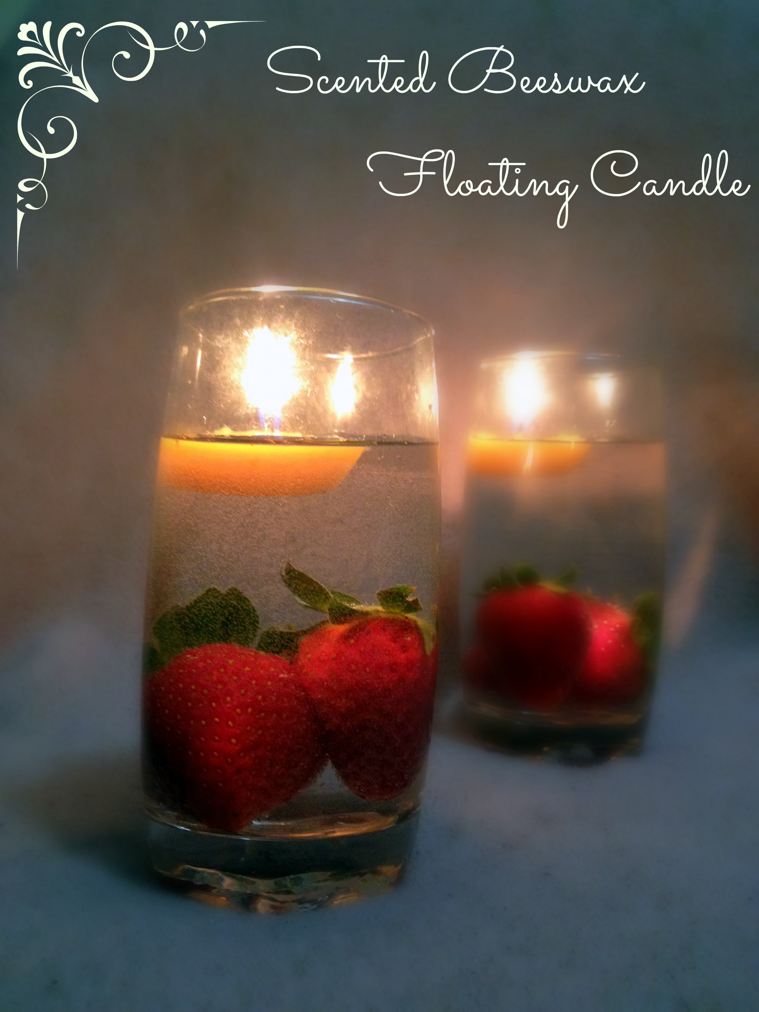 Scented Beeswax Floating Candles (Nature's Air Purifier)
