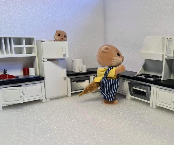 Mix N匹配Sylvanian厨房(3D印刷Tinkercad项目)