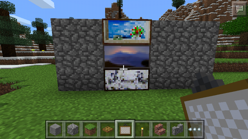 Secret door in minecraft pe