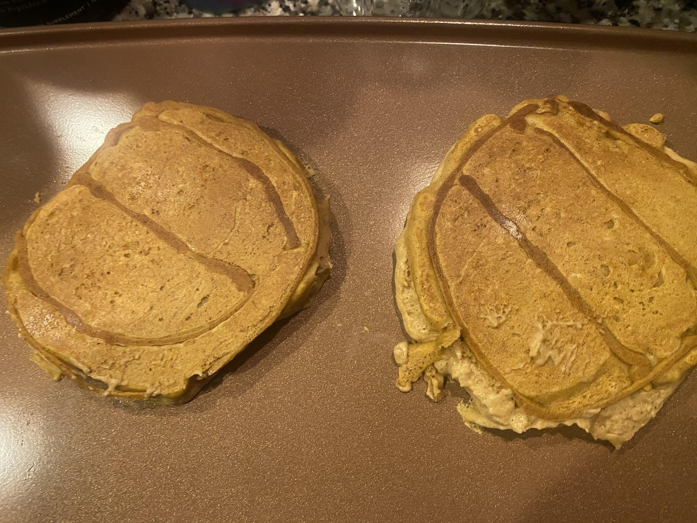 How to Outline the Pumpkin Pancakes