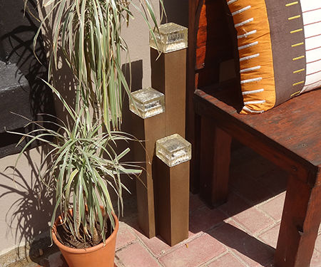 Decorative solar lamp display