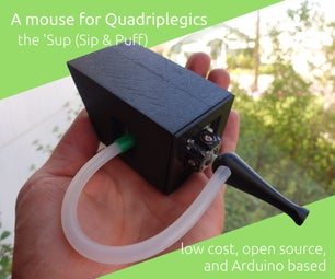 The 'Sup - a Mouse for People With Quadriplegia - Low Cost and Open Source