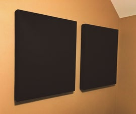 Scratch Built Acoustic Absorbers for Bedroom Studio
