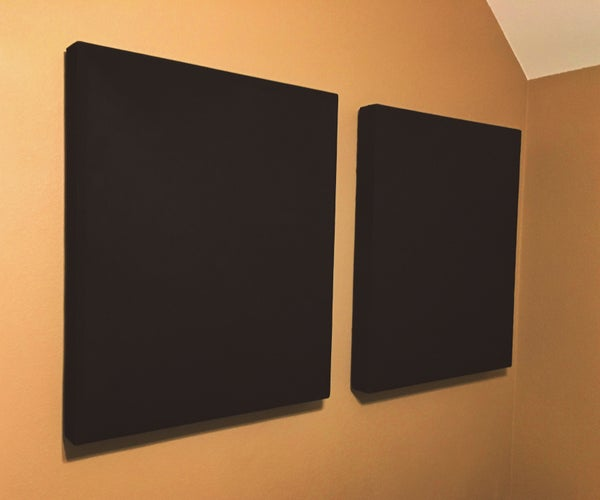 Scratch Built Acoustic Absorbers for Bedroom Studio