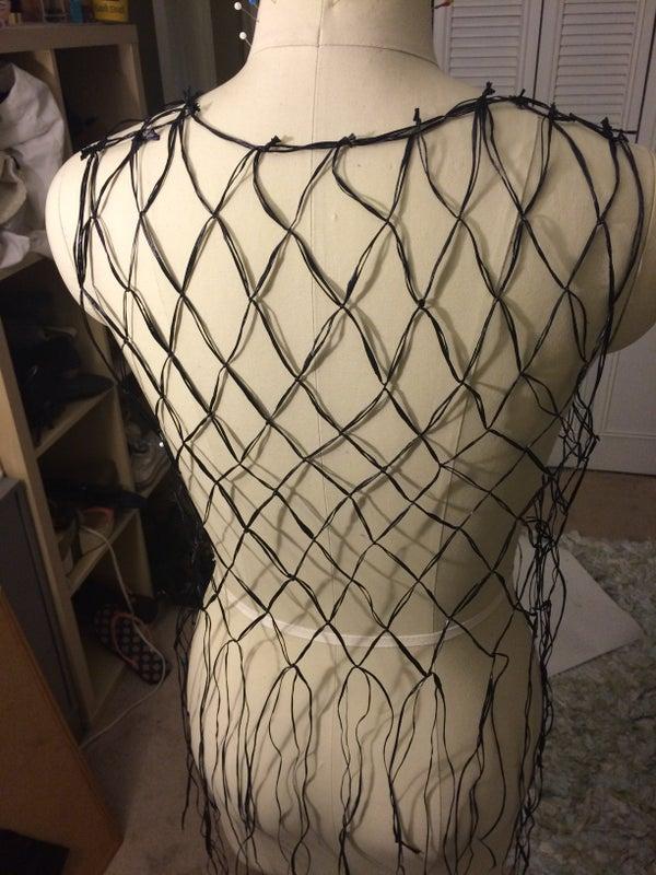 Fishnet Fringe From Plastic Bags