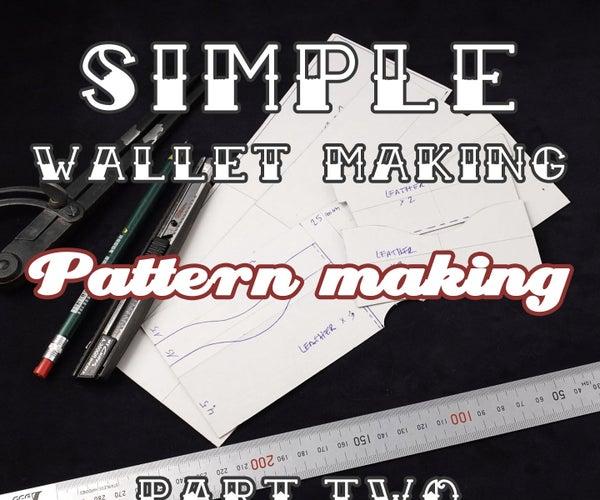 Simple Wallet Making/pattern Making (part1)