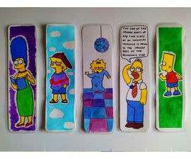 Simpsons Bookmarks + Simple Way to Plasticize