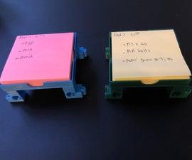 3D Sticky Notes Holder Using Tinkercad Codeblocks