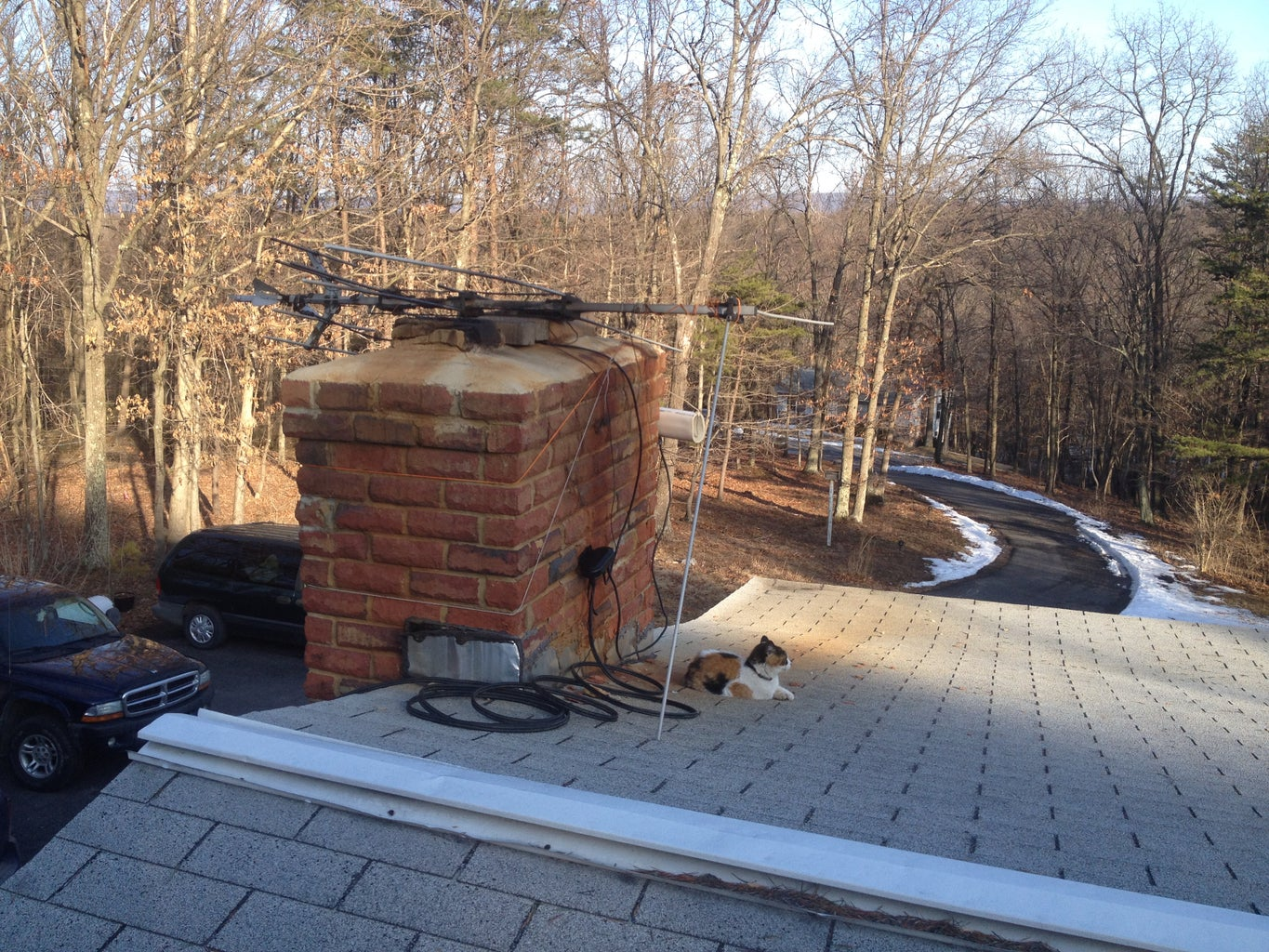 Enjoying My Work After Installing on the Roof.
