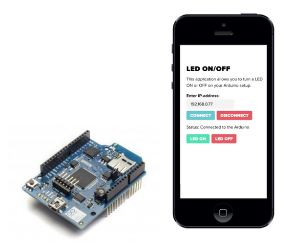 How to Connect Your Arduino WiFi Shield to a Custom IOS/Android Application Developed in HTML5/JavaScript.