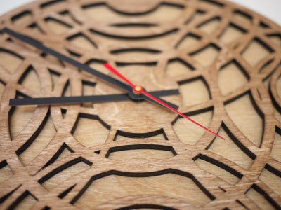 Laser-cut Ripple Clock