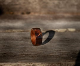 Wooden Ring With Veneer Core