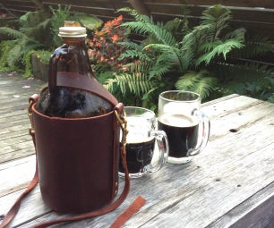 Leather Growler Carrier