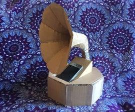 Cardboard Gramaphone Passive Speaker