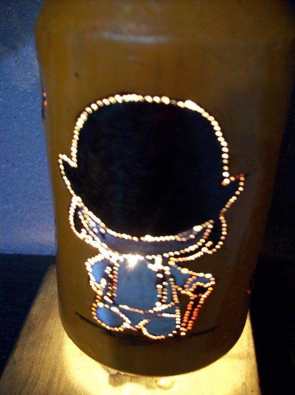 The Clockwork Orange Kinetic Lamp.