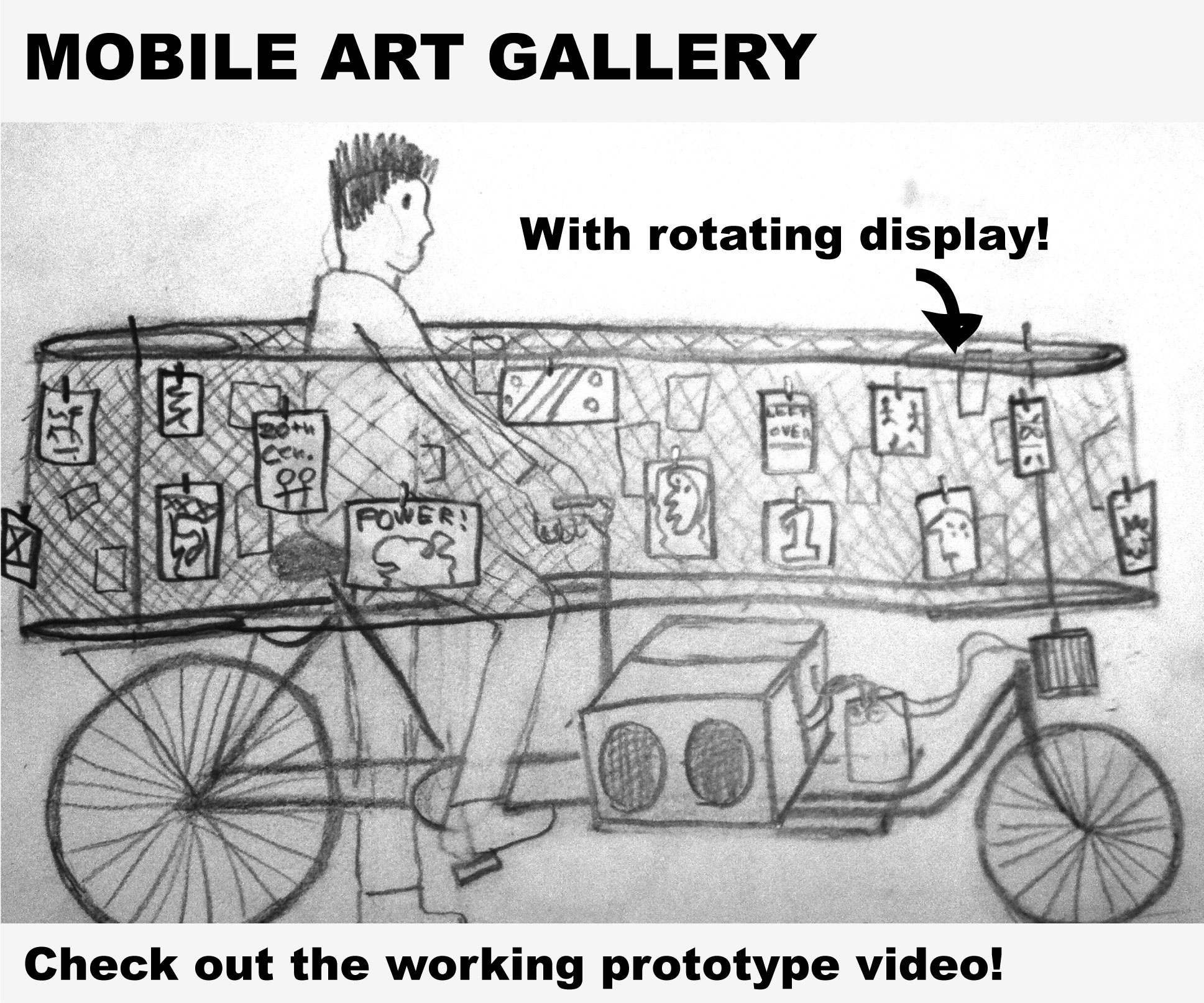 Art Gallery with Moving Walls on Bicycle