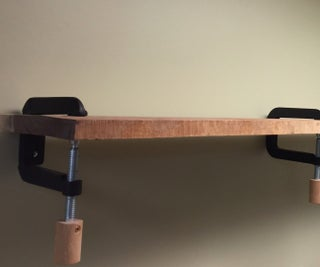 C-Clamp Wood Shelf