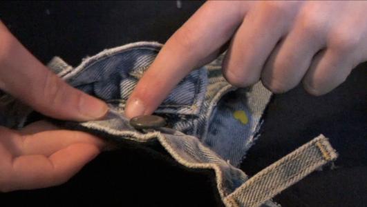Sew Jean and Sweatshirt Together