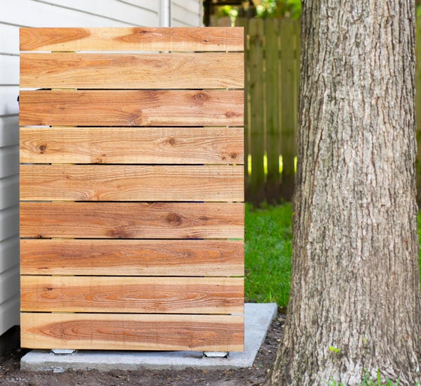 DIY Privacy Fence for Trash Cans (and Other Ugly Stuff)
