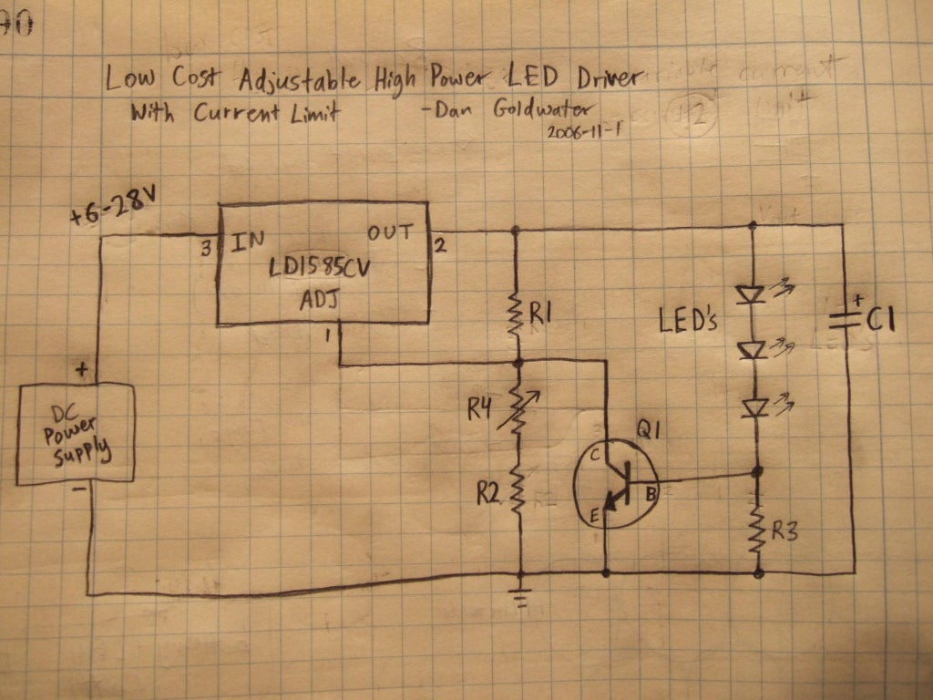 High Power Led Driver Circuits 12 Steps With Pictures Instructables