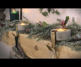 Modern Concrete Christmas Stocking Holder!