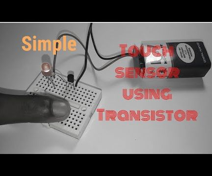 Touch Sensor Using BC547