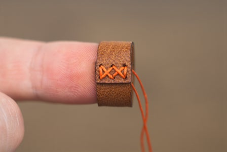 Stitching the Strap Keeper