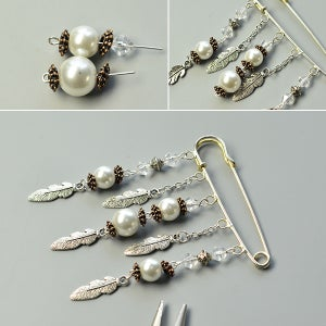 Attach the Last Bead Fringe to the Circles of the Pin.