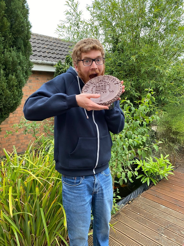 Enjoying Your Giant Chocolate Coin