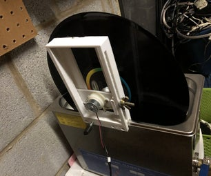 3d Printed Ultrasonic Record Cleaner Attachment