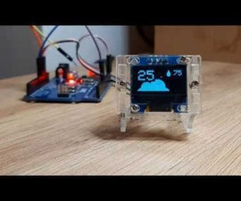 Simple DIY Weather Station With DHT11 and OLED Display