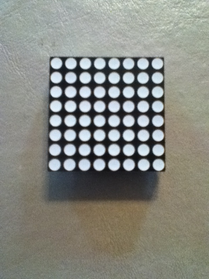Connect an 8x8 LED matrix to a Small Breadboard
