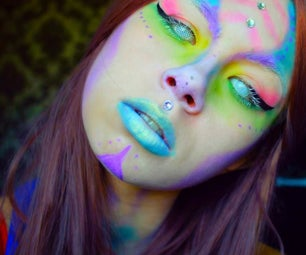 Psychedelic Alien Makeup