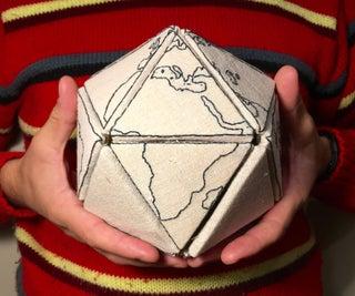 Embroidered Buckminster Fuller Map