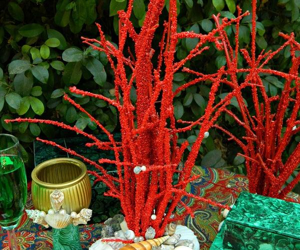 Faux Coral Centerpiece
