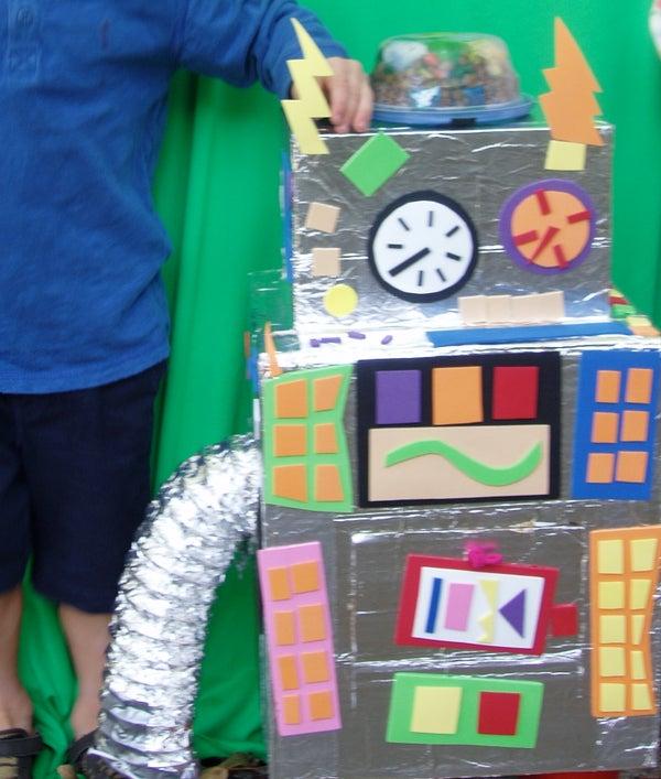 Cardboard Robot for Little Kids