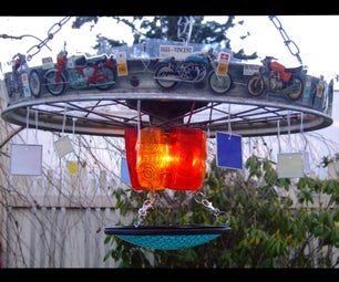 How to Make Things Into Stuff: Motorbike Chandelier
