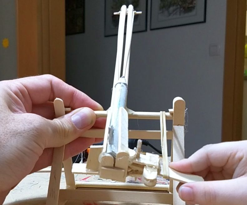 Rubber Band Rocket Launch Pad