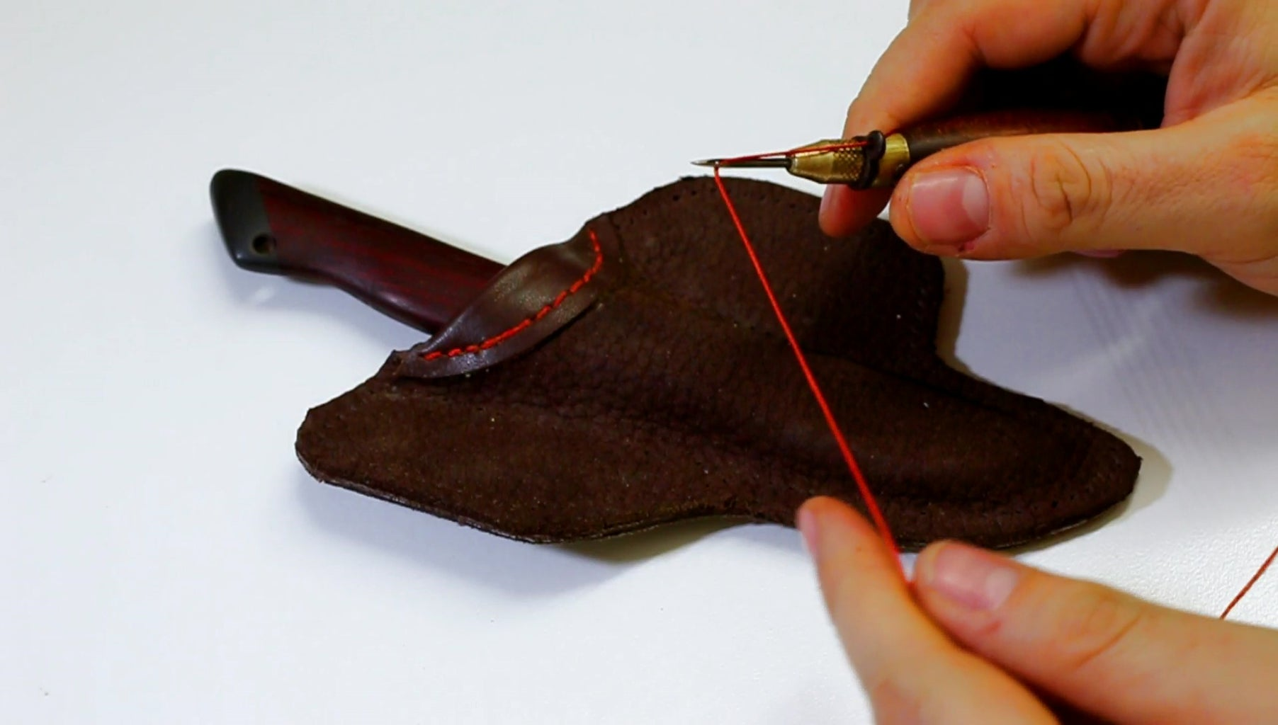 Sewing the Sheath