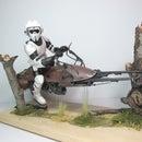Vintage MPC Scout Trooper Model - Mod