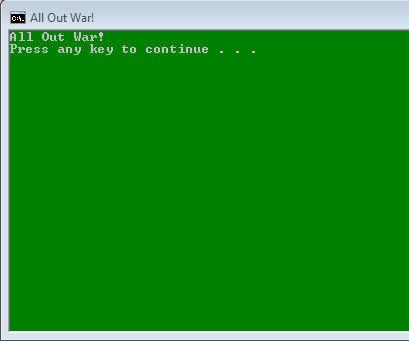 Batch script war game