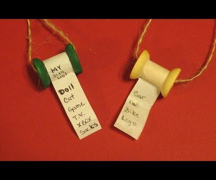 How to make a Christmas Wish List Scroll Ornaments