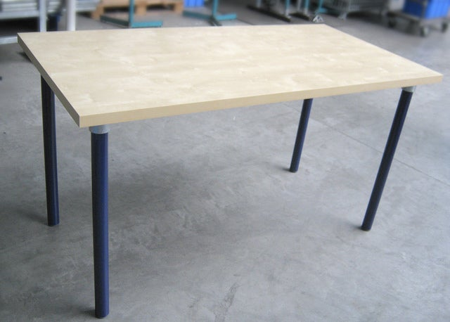 Pipe Leg Diy Table Build From Any Wood Top 5 Steps Instructables - How To Attach Metal Legs Wood Table Top